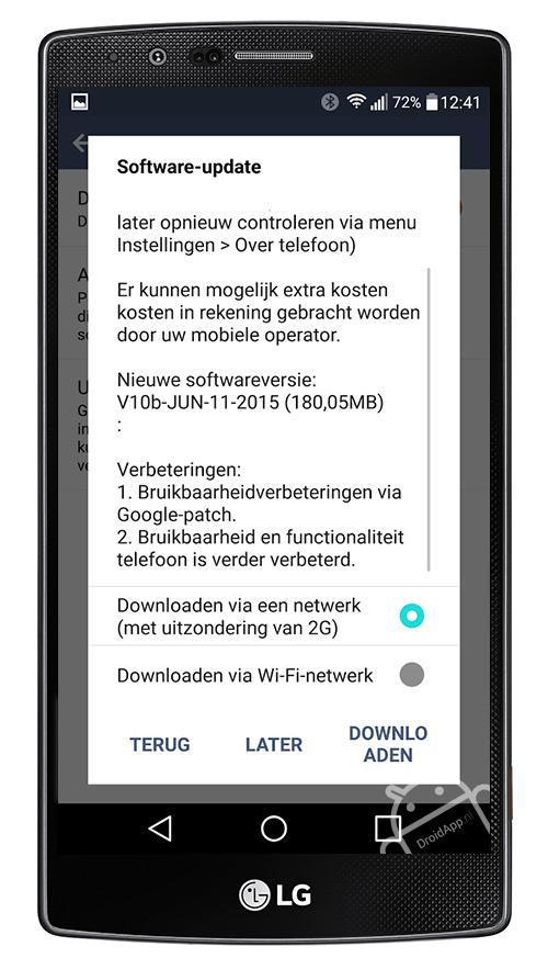 LG G4 V10b update