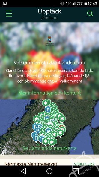 Jämtlands Naturkarta