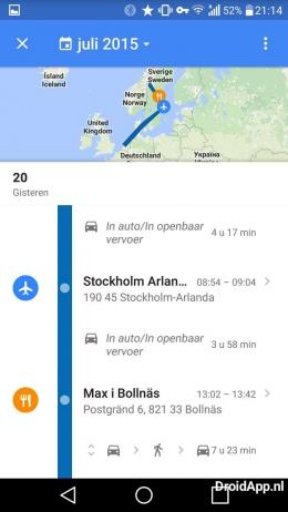Google Maps 9.12 tijdlijn