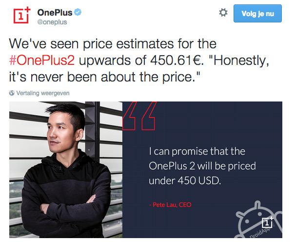 OnePlus 2 prijs
