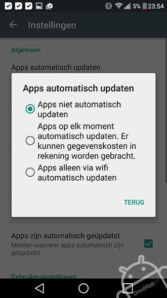 Play Store updates