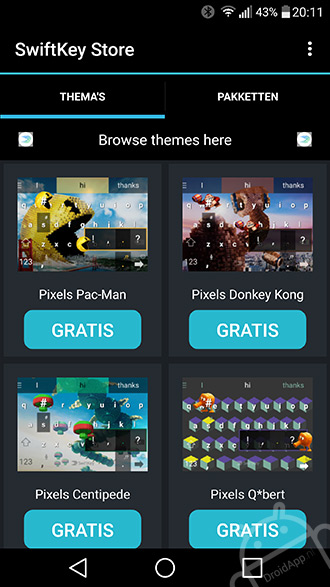 SwiftKey Pixels thema's