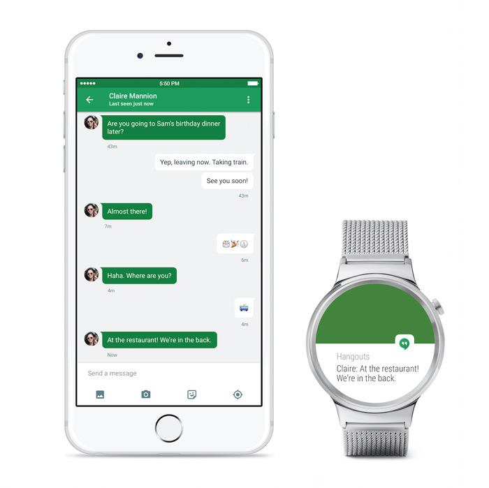 Android Wear Apple iOS
