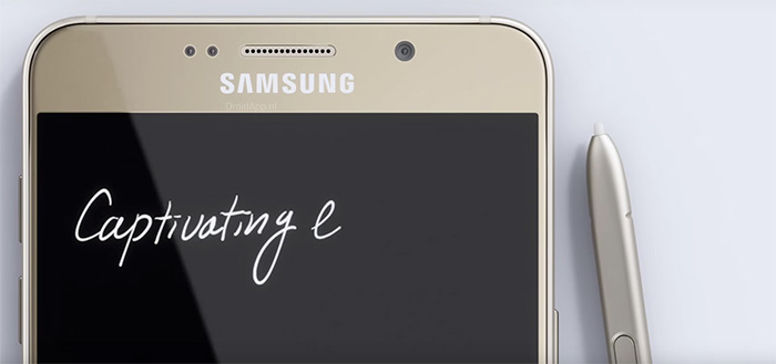 Samsung Galaxy Note 5 header
