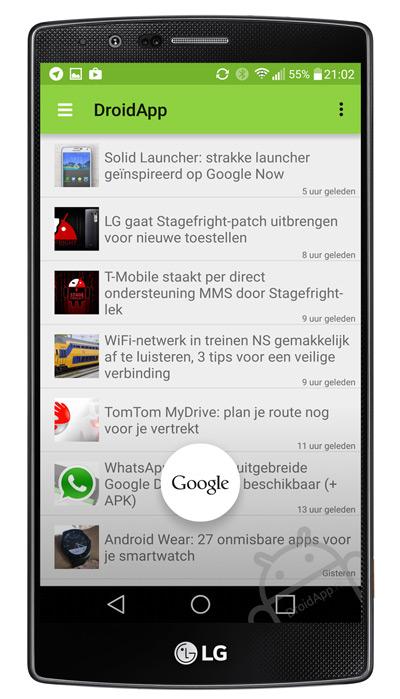 LG G4 Google Now