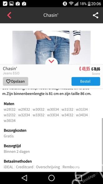Kleding.nl app