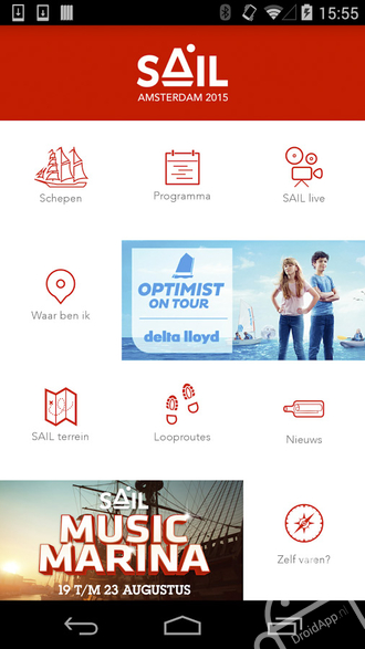 SAIL Amsterdam 2015 App