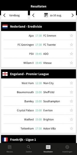 Voetbalzone app