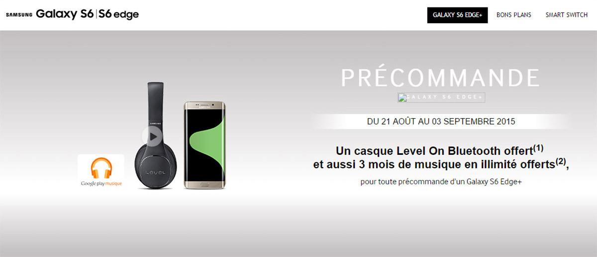 Pre-order Galaxy S6 Edge+