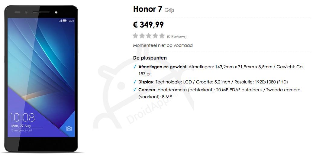 Honor 7 Nederland