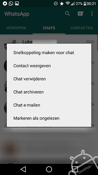 Markeren ongelezen WhatsApp