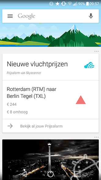 Skyscanner Google Now