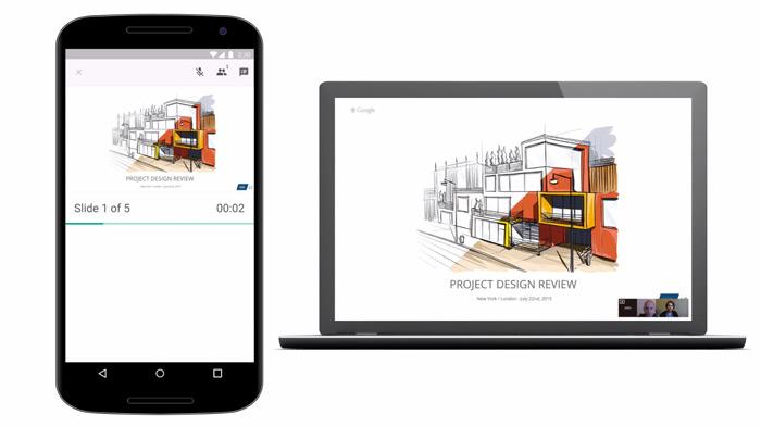 Google Slides Hangouts
