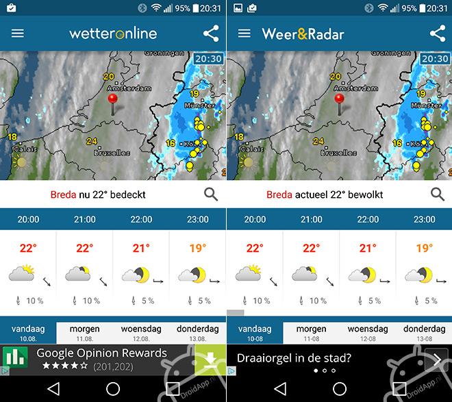 WetterApp Weer & Buienradar