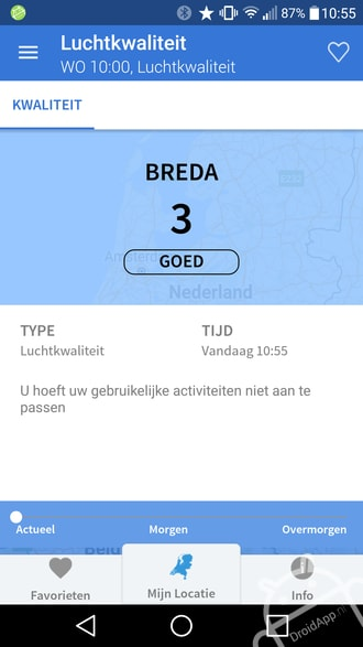Mijn Luchtkwaliteit app