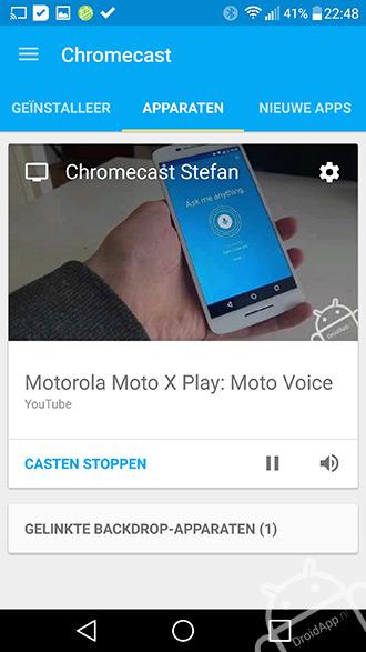 Chromecast app