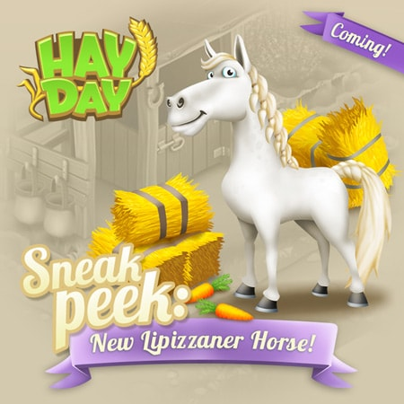 Hay Day lipizzaner