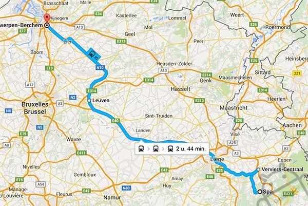 NMBS Google Maps