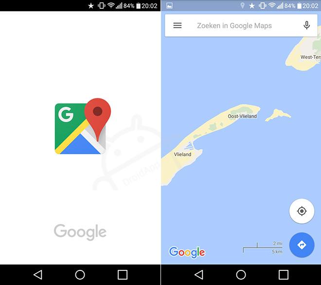 Google Maps nieuw