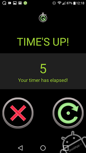 Quickie Timer Widget