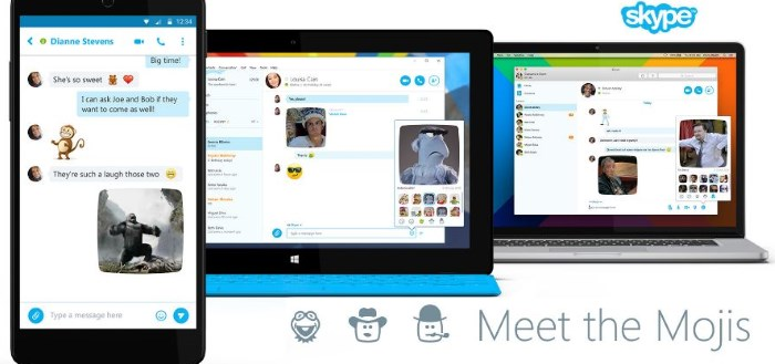 Skype introduceert Mojis, bewegende emoticons