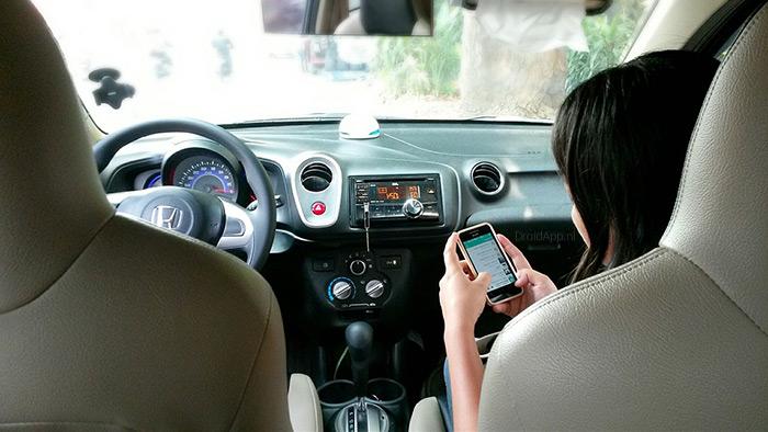 verkeer smartphone