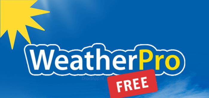 WeatherPro Free: populaire weer-app lanceert gratis versie