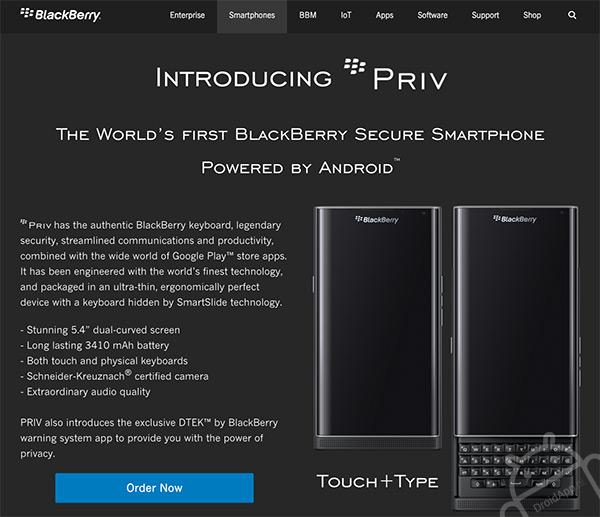 BlackBerry Priv pre-order
