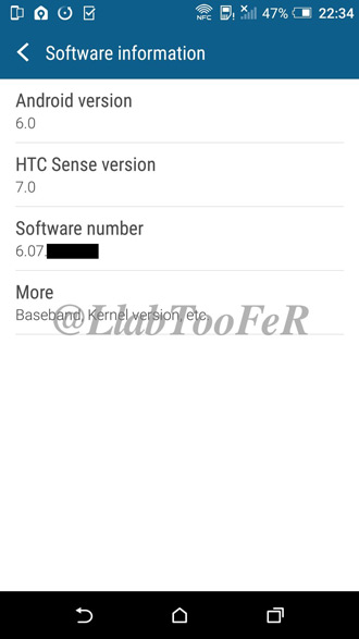 HTC One M8 - Android 6.0 Sense 7