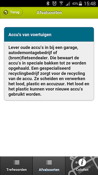 Afvalscheidingswijzer