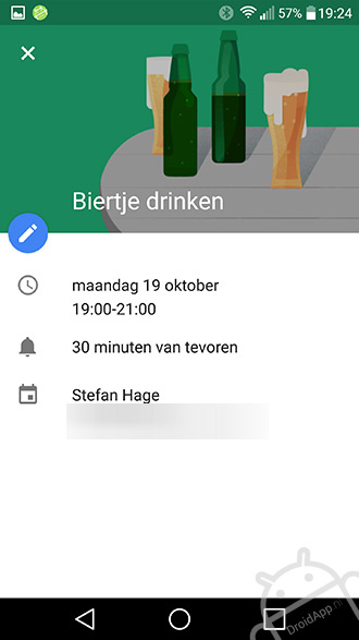 Google Agenda illustratie