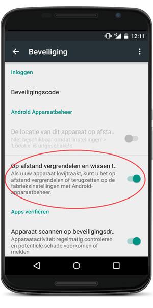 Android apparaatbeheer