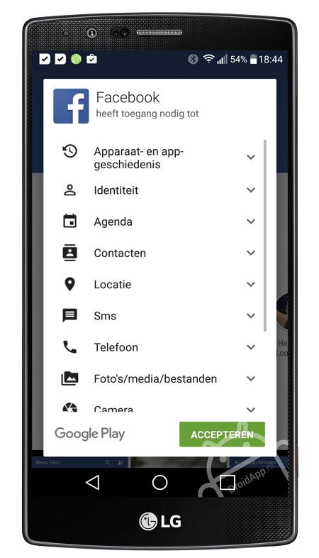 App machtiging privacy