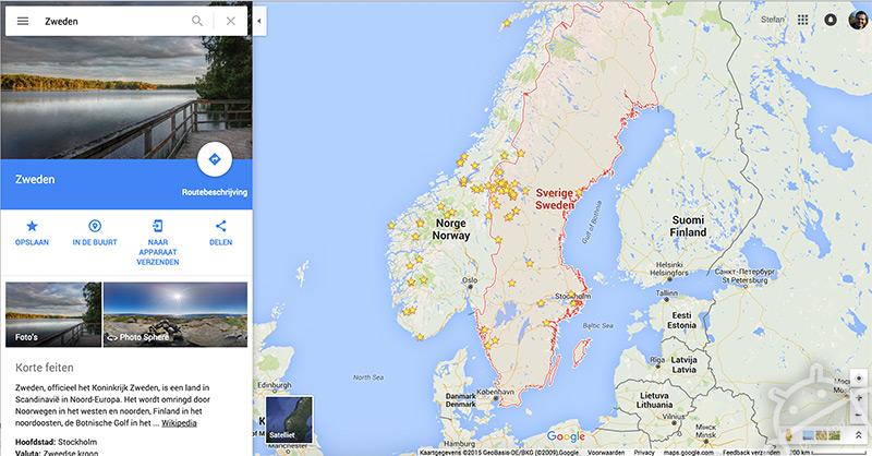 Google Maps web