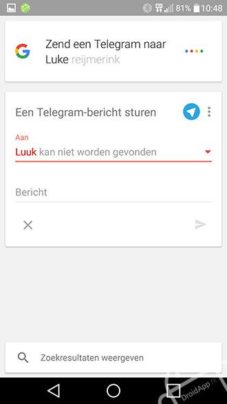 Google Now Telegram