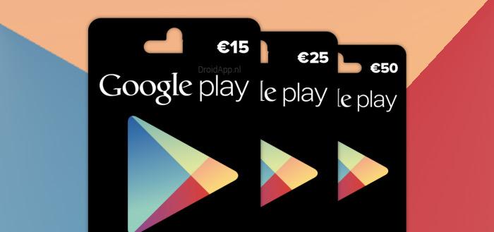 Google maakt Nederlandse verkooppunten bekend voor Play Gift Card