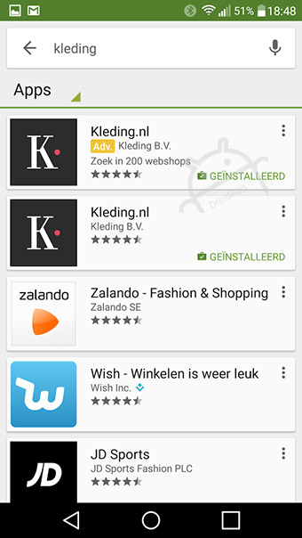 Play Store advertentie