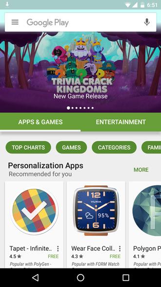 Google Play Store oktober