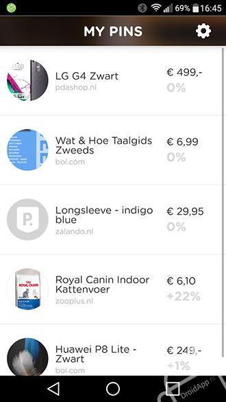 Pricepin app