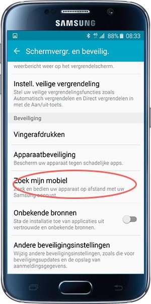 Samsung zoek mijn mobiel