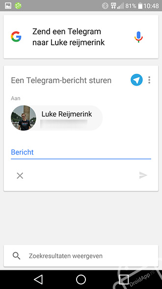 Google Now Telegram