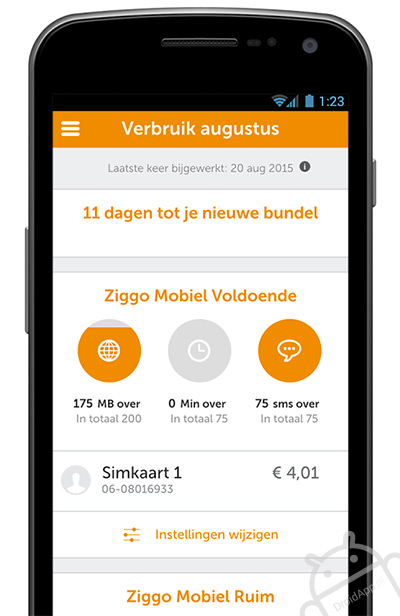 Ziggo Mobiel app