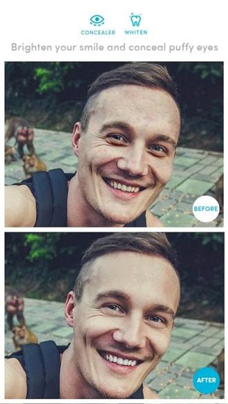 Airbrush selfie