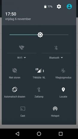 Android snelmenu
