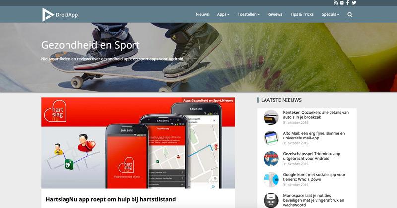 DroidApp website