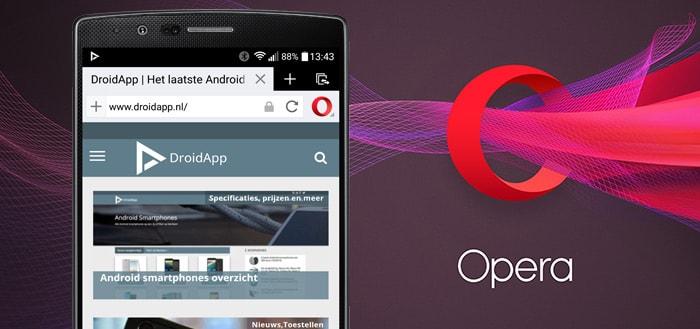 Opera updatet haar twee Android-browsers: nog meer besparen op data