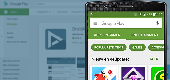 Google test wederom nieuwe lay-out in Play Store zoekresultaten