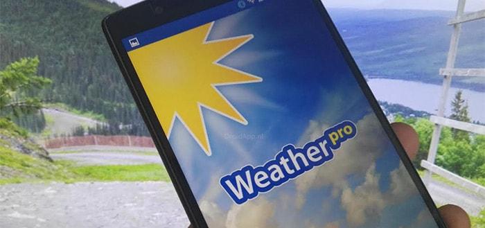 WeatherPro 4.3: verbeteringen en bijgewerkt voor Android 6.0