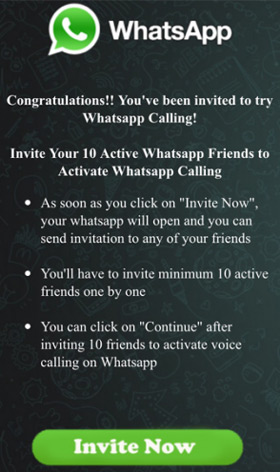 WhatsApp invite scam