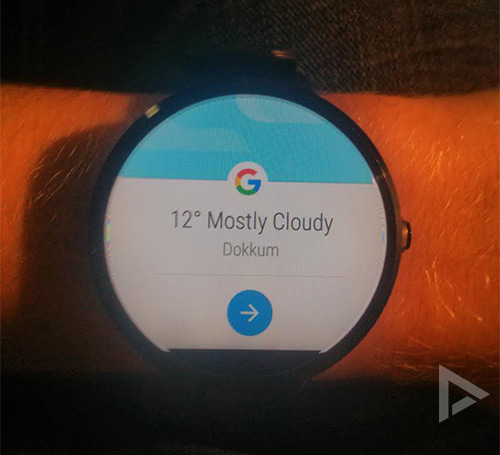 Google Now Android Wear